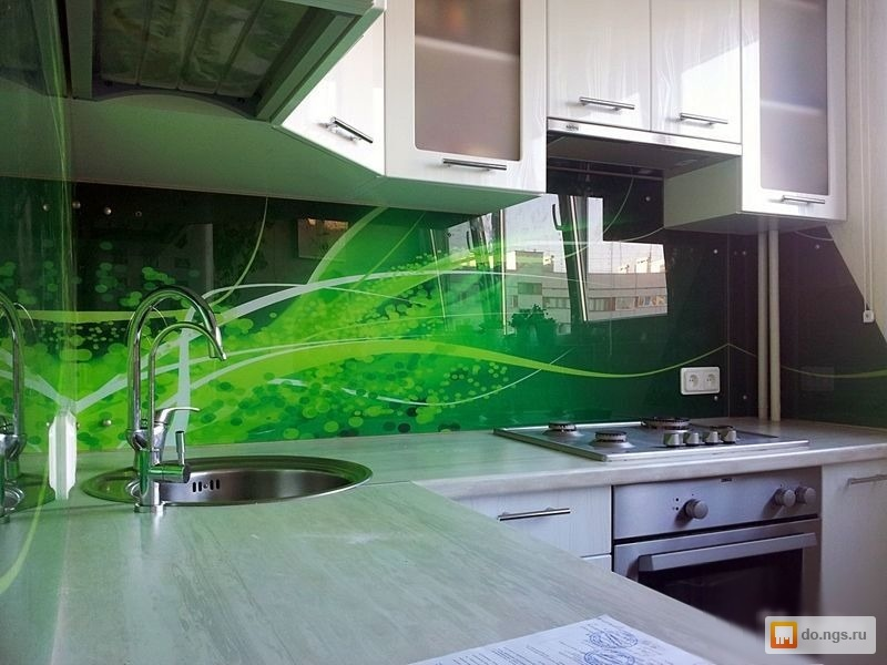 Фартук для кухни  стекло
