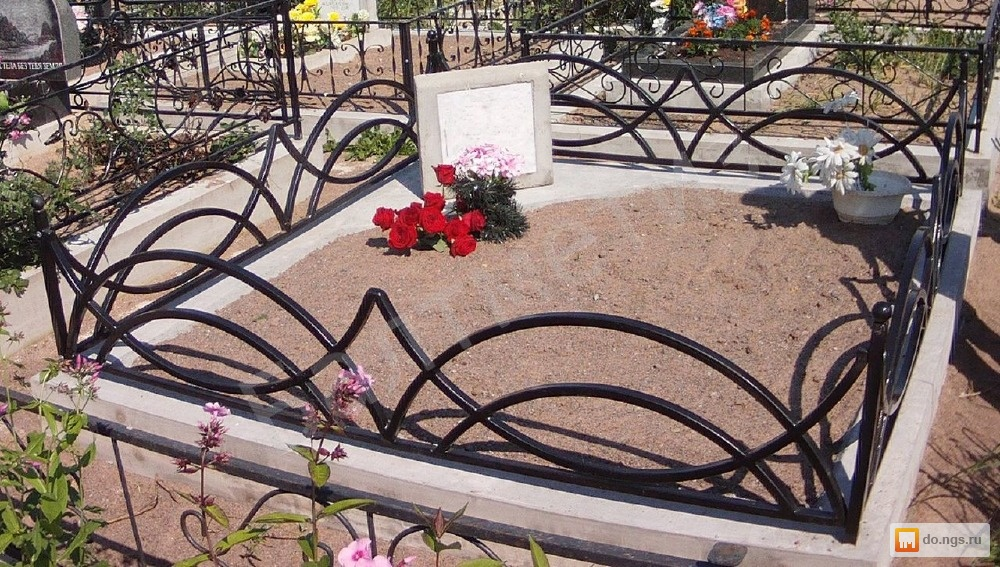 Ограды для могил фото своими руками