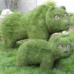 топиари из искусственной травы, Омск