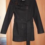 Пальто женское чёрное Bessini (Италия), р. 42-44, рост 160-165, Омск