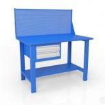 Стол слесарный с экраном и ящиком вст-Н 12/тп1-Э4, Омск