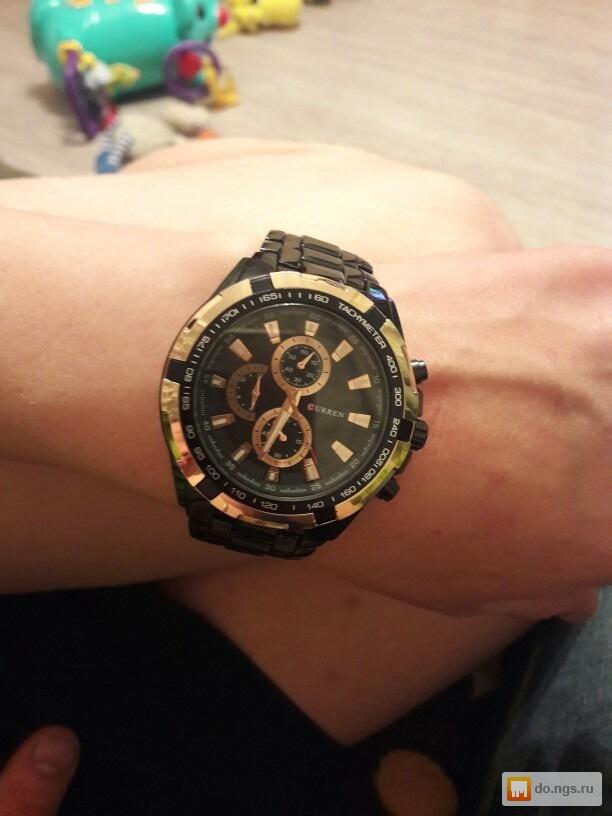 ab9927d3 Кварцевые мужские часы curren 8023 Gold Black. 900 руб. Для кого: Мужские;  Тип корпуса: Наручные ...