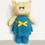 Мягкая игрушка кошка в платье, Омск