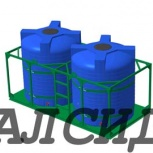 Емкости 10 кубов для перевозки в стальном каркасе, Омск