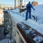 Чистка крыш от снега и наледи. Удаление сосулек, Омск
