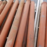 Труба канализационная наружная б/у рыжая 110, 160 мм, Омск