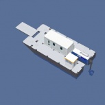 Катамаран грузопассажирский, катамаран для работ на воде, водная вахта, Омск