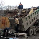 Вывоз строительного, бытового мусора, Омск