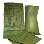 Мешки 55*95 зеленые пропиленовые, Омск