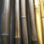Бамбуковые стволы, канат, натуральные обои, Омск