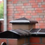 Керамические крышки (шляпы) для столбов забора+элементы на пролёты, Омск