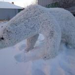 Топиари белый медведь, Омск