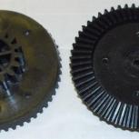 Шестерня мясорубки Ротор, черная большая D=83/38, H21, коническая, Омск