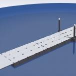 Секция понтонного моста 48 метров, понтонный мост, причал., Омск