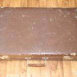 Винтажный фибровый чемодан пр-ва СССР, 1952-1953 гг., Омск