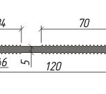 Гидроизоляционная шпонка АВКВАСТОП ПВХ-П ХВН-120 (2хØ6), Омск