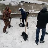 уборка снега, Омск