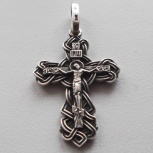 Крестик серебряный, 45 х 23 мм, новый, освящённый, Омск