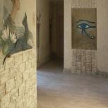 роспись стен, барельеф, декоративная штукатурка, искусственный камень, Омск
