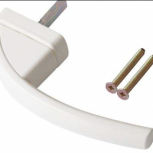 Ручка оконная Roto Swing, 37 мм, белая, с винтами, Омск