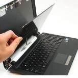Ремонт крепления матрицы ноутбука. Ремонт оптического привода, Омск