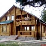 Срубы домов, бань из оцилиндрованного бревна Ангарской сосны, Омск