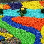 Цветная мраморная крошка декоративная, Омск